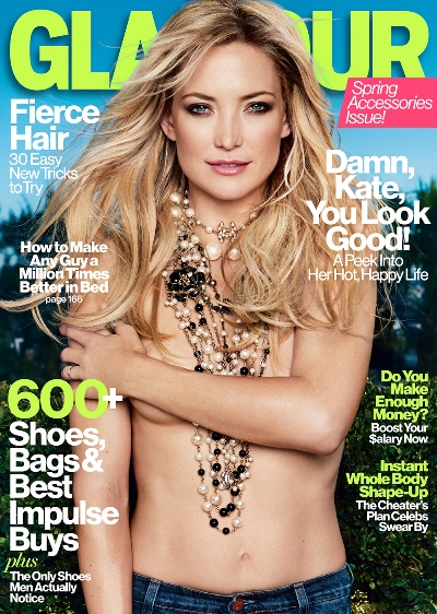 Kate Hudson April 2013 Glamour cover