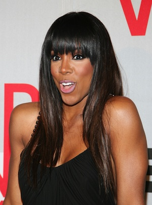 Kelly Rowland on the BET red carpet.