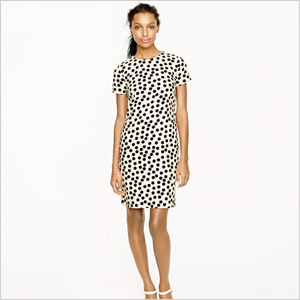 Scattered dot shift dress by J. Crew. (J.Crew, $168)