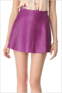 Jawbreaker A-line mini skirt by Love Leather. (ShopBop, $231)