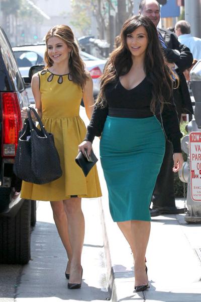 Pregnant Kim Kardashian and Maria Menounos