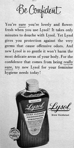 Lysol douche