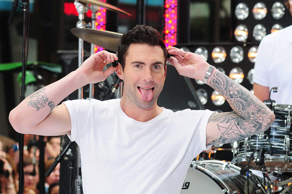 Adam Levine laughing