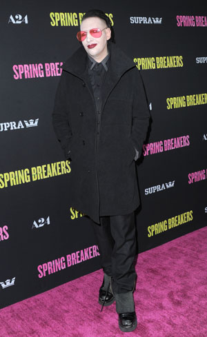 Marilyn Manson at Spring Breakers premiere