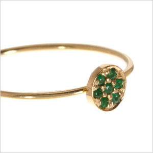 Jennifer Meyer emerald circle ring