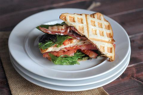 waffled blt sandwiches