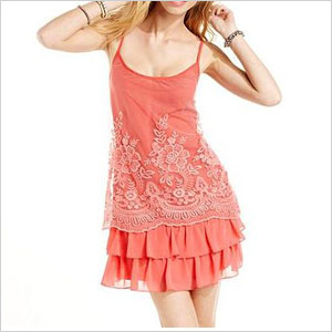 Wishes Wishes Wishes Spaghetti-Strap Lace dress