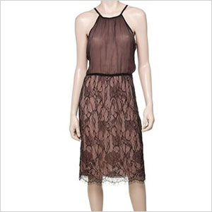 Max studio lace chiifon dress