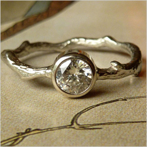 Kate Szabone moissanite branch ring