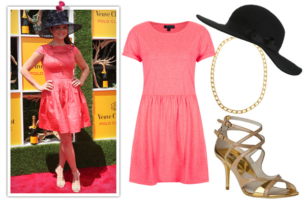 Tiffani Thiessen -- Pink dress