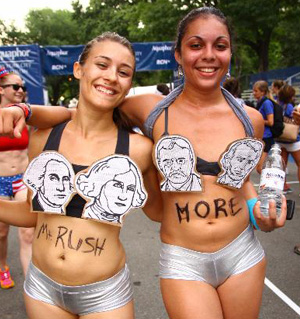 Mount Rushmore underpants run
