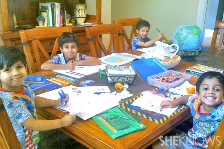 Multi-grade homeschooling - Tiany Davis' family