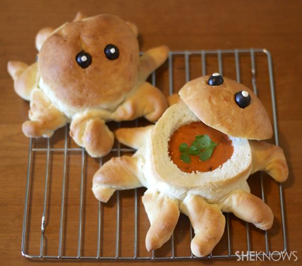 Octopus bread bowl recipe