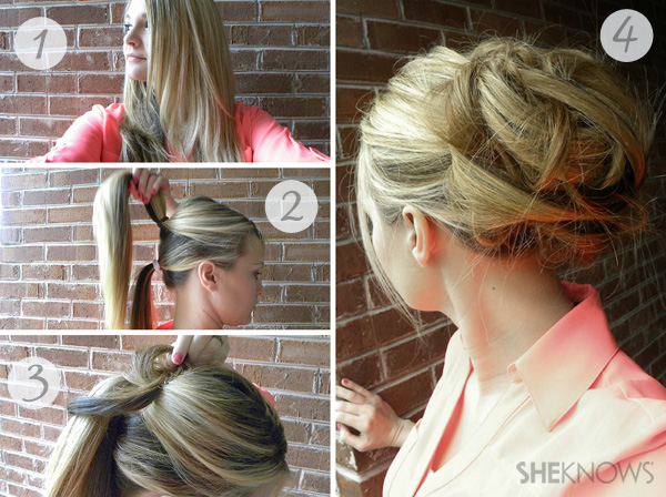 The perfect updo for rainy day events