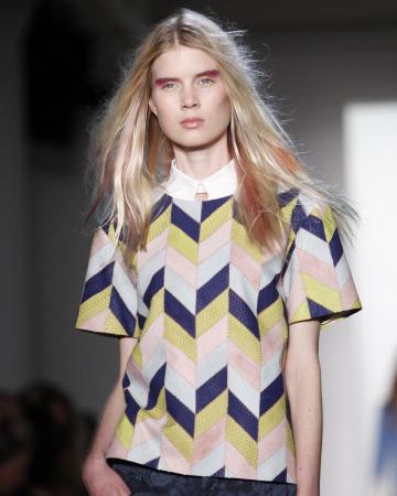 Peter Som Spring 2012 -- Rose gold hair
