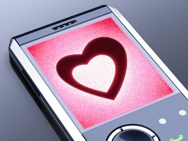 Heart on phone