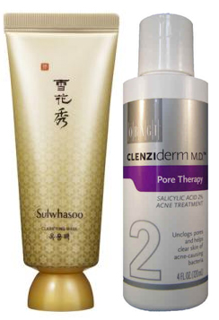 Sulwhasoo Clarifying Mask: and Obagi Medical Clenziderm M.D. Pore Therapy: