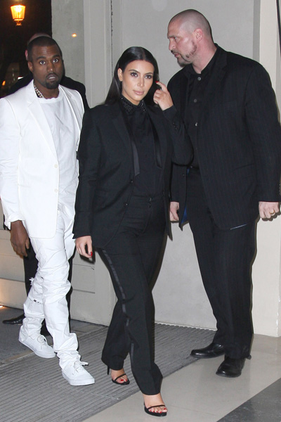 Pregnant Kim Kardashian and Kanye West