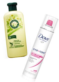 Red carpet hair products