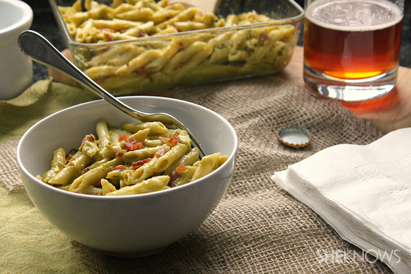 Roasted poblano macaroni and cheese recipe