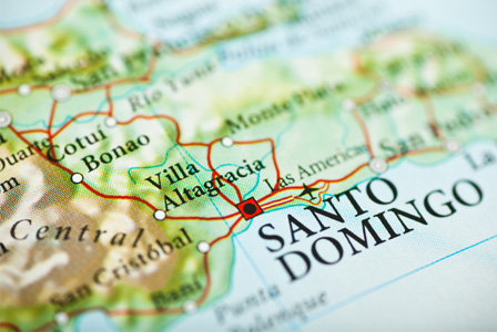 Santo Domingo on a map