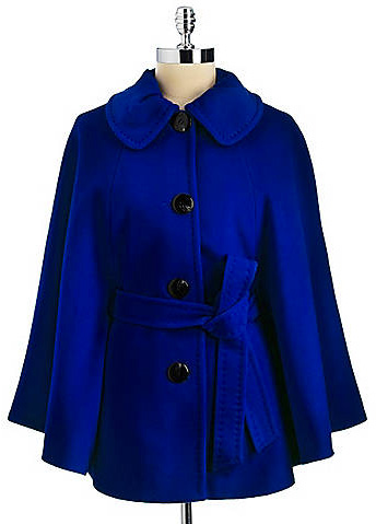 Ellen Tracy Belted Cape Coat