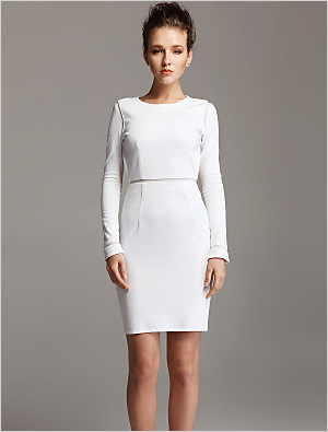 TS longsleeve backless bodycon dress
