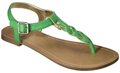 Target green braided sandal
