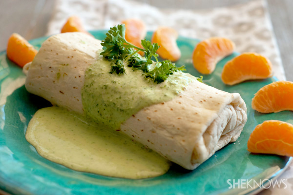 Thai green curry chicken burrito recipe