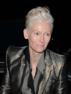 Tilda Swinton at David Bowie opening
