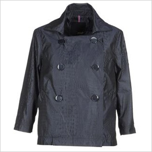 black spring crocodile print jacket