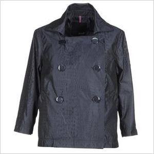 black spring crocodile print jacket