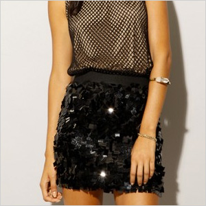 mod body-con mini skirt