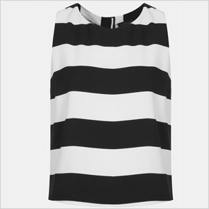 black and white Topshop tank