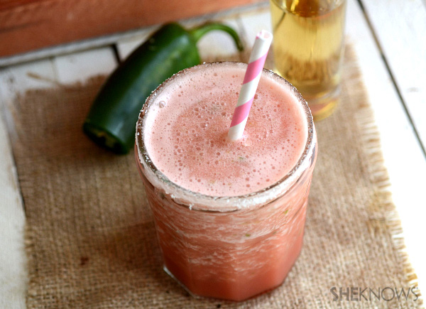 Watermelon & jalapeno margaritas