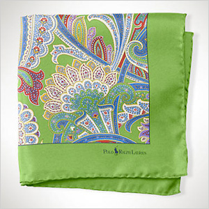 bright and whimsical Ralph Lauren pocket square