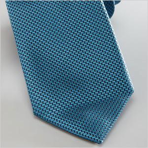aqua-hued woven silk tie