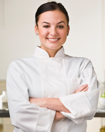 Woman in cooking school