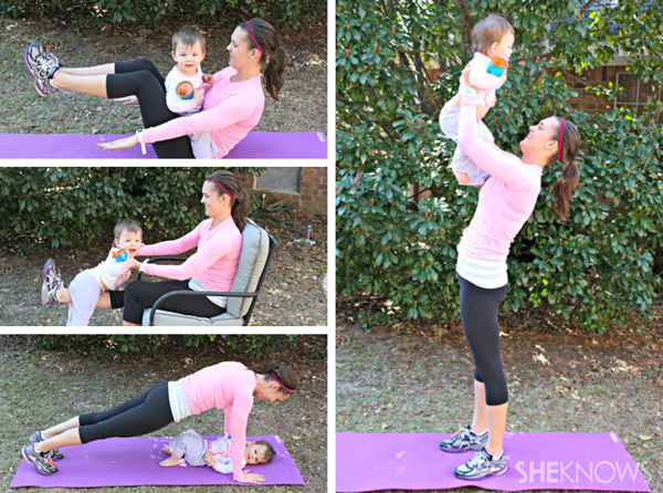 Workout moves for mom and baby