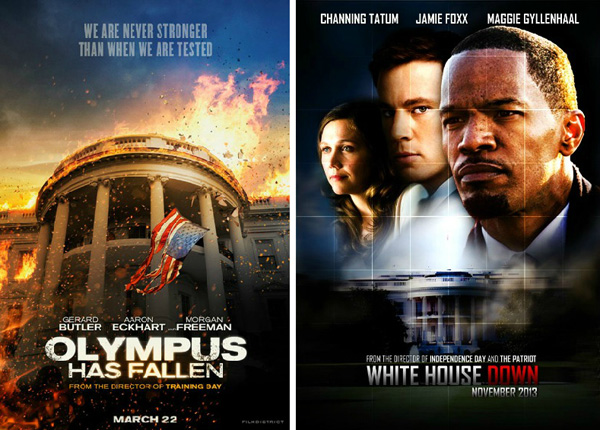 Olympus Has Fallen (released March 22, 2013) and White House Down (will be released June 28, 2013)
