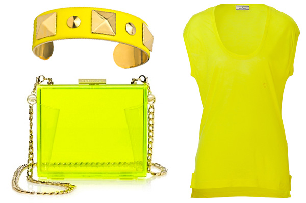 Neon yellow fashion