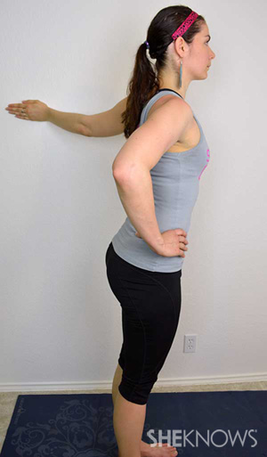 Wall Shoulder Stretch