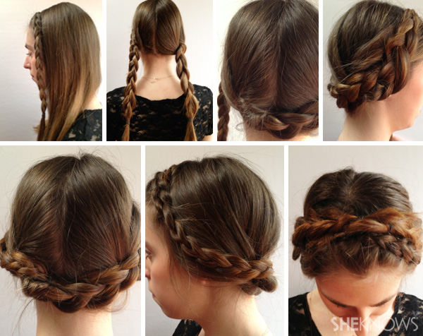 DIY Wedding hair style - halo braid