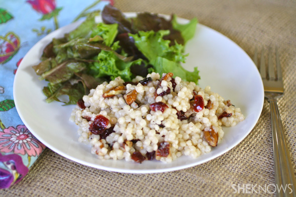 Couscous with dried fruit and nuts