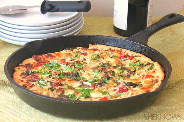 Garden skillet pizza recipe