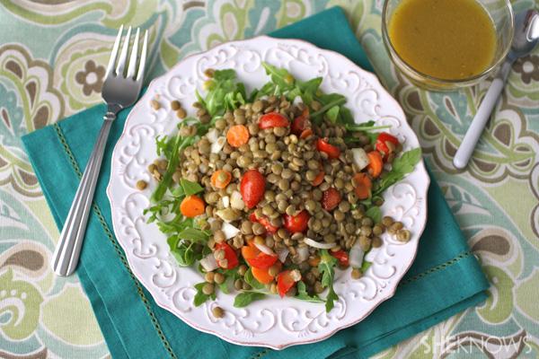 Enjoy a lentil salad!