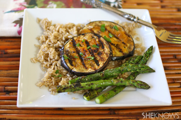 Meatless Monday: Miso-glazed grilled eggplant