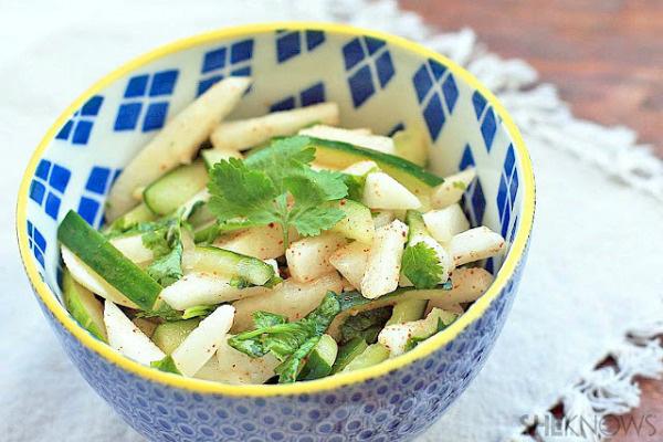 Cilantro lime jicama salad