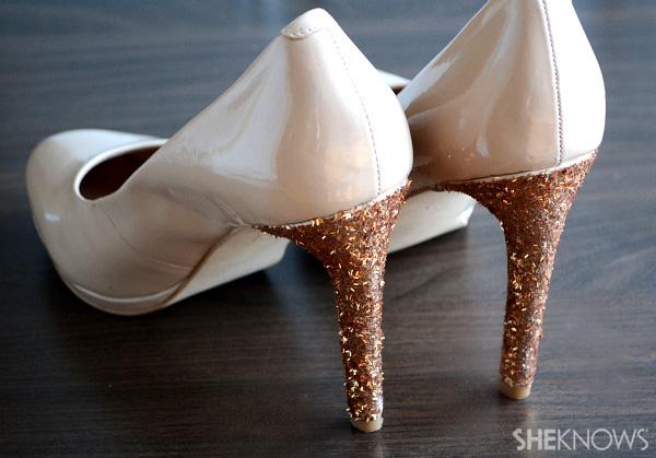 Glittery heels