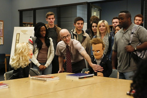 The gang turns into puppets for therapy